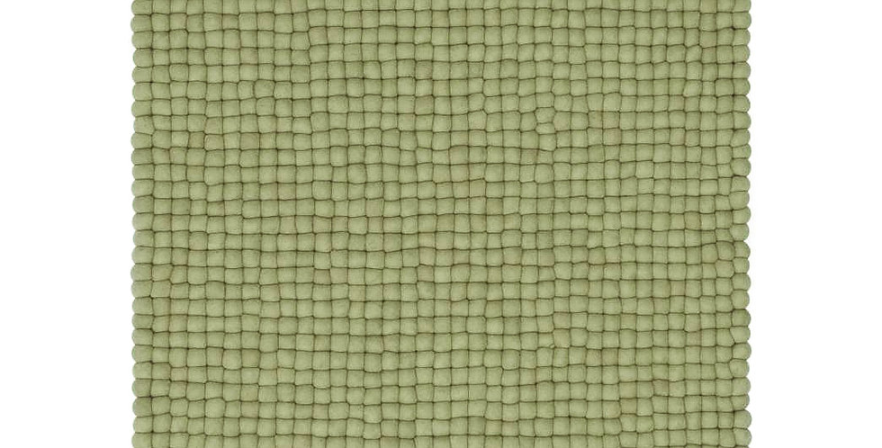 Pistachio green rug full view.