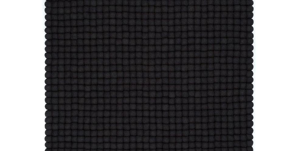 Black square rug