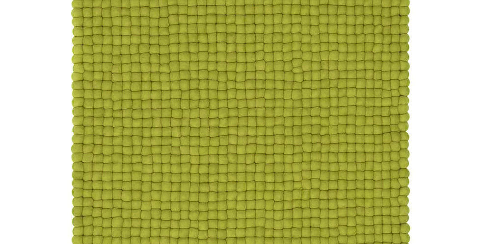 Lime green rug full view