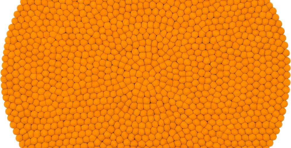 Orange textured wool rug