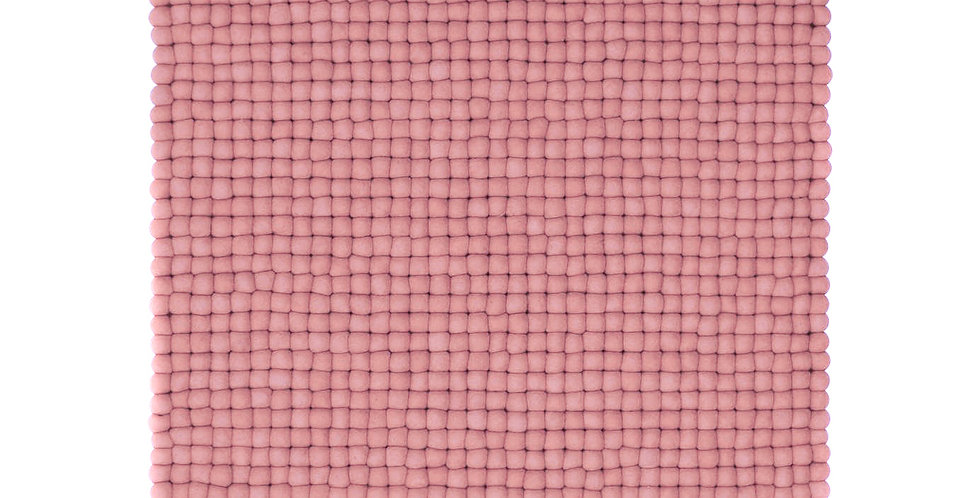 Pink square rug full view
