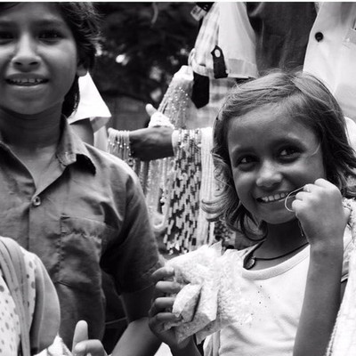 Young Kids Smiling / India