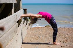 YogaWithVickiB yoga backbend stretch