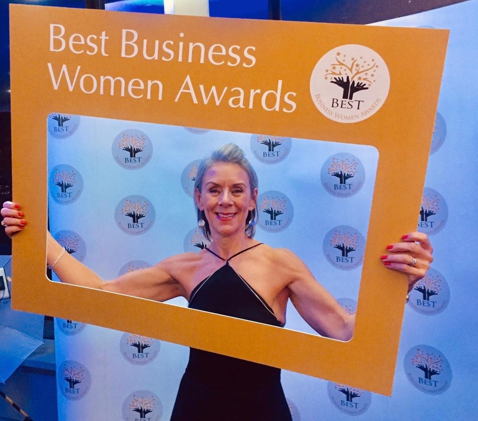 Yoga teacher Vicki Baumann of Yogawithvickib names as finalist in the Best New Business category in the 2019 Best Business Women Awards