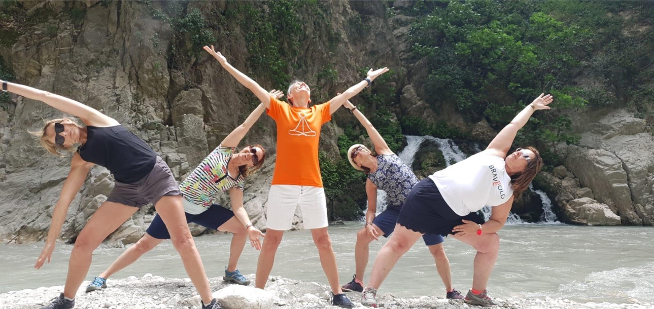 YogaWithVickiB with guests on Ladies-only Yoga & Relaxation Holiday retreat in Kalkan, Turkey