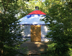 Tilton House, yoga yurt where the YogaWithVickiB ladies-only yoga retreat will be hosted
