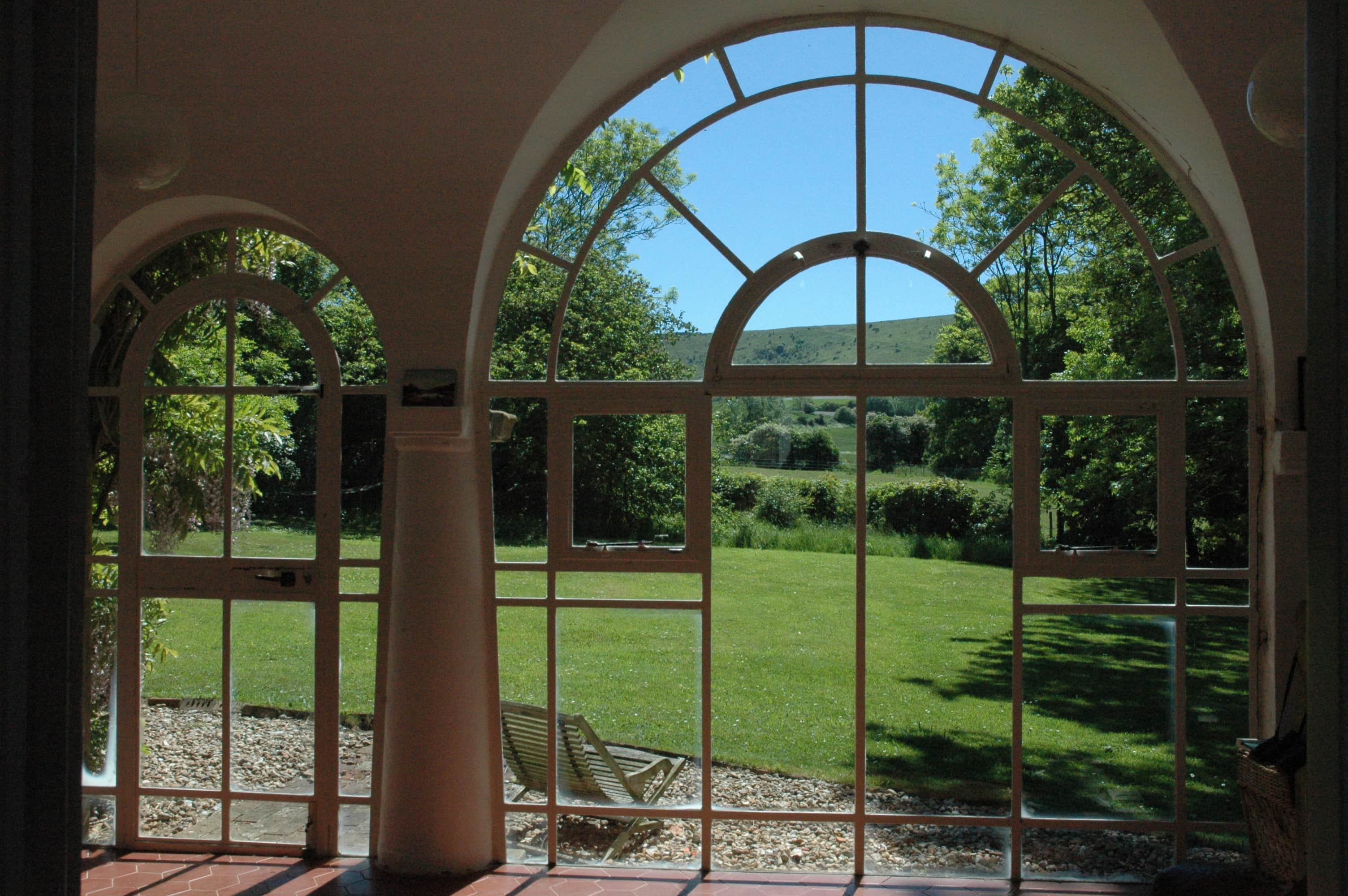 View to the beautiful Sussex Downs from Tilton House, location for the YogaWithVickiB ladies-only yo
