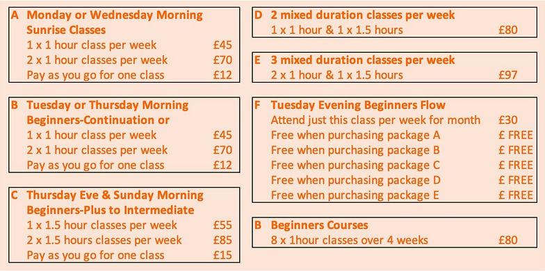 April 2021 New Prices inc Sunrise Classe