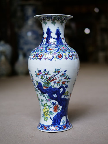 Multicoloured Floral Vase