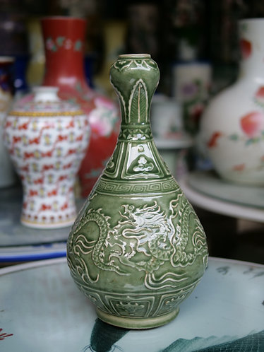 Small Neck Celadon Vase