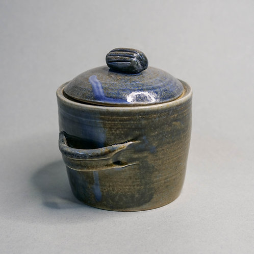 Dragon Kiln Fired Blue Jar with Lid (Design 4)