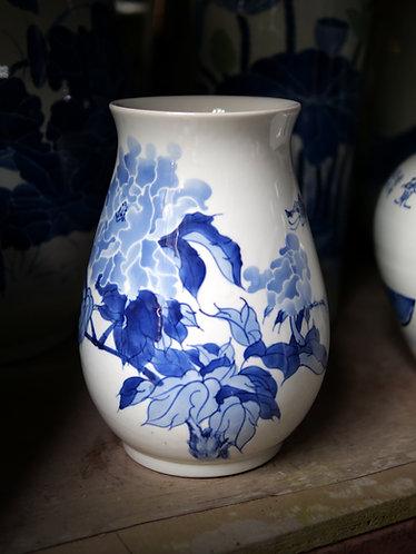 Blue and White Prosperity Blossoms Vase