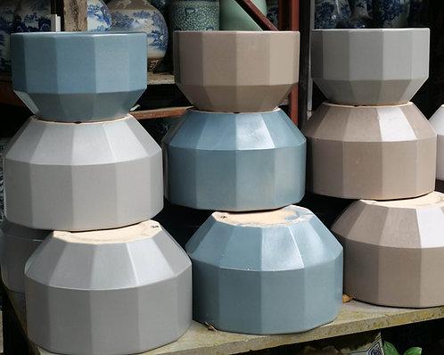 Geometric Outdoor Pot (3 Colours, 2 Sizes)