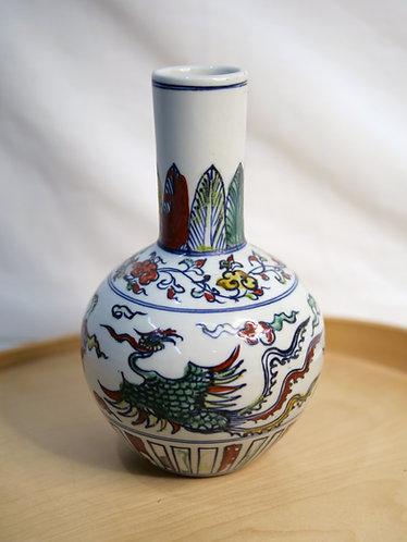 Multi-coloured Chinese Vase (Design 4)