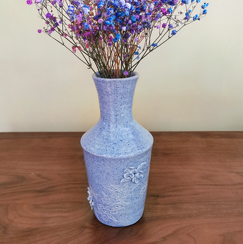 Speckle Blue Vase