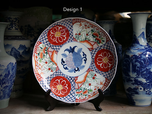 Red and Blue Large Plates Series (6 Designs)