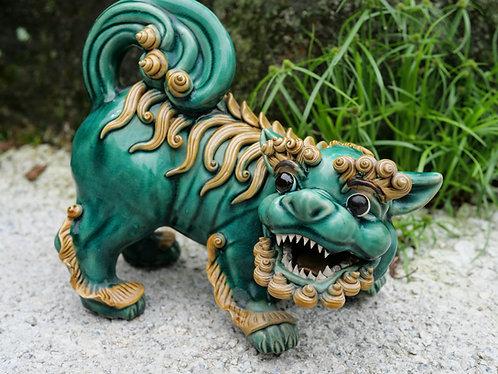 Green Guardian Lions (Pair)