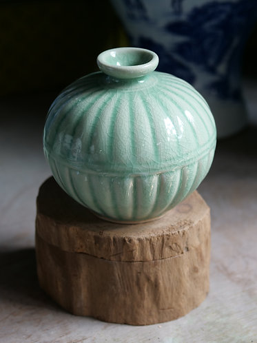 Small Celadon Crackle Vase