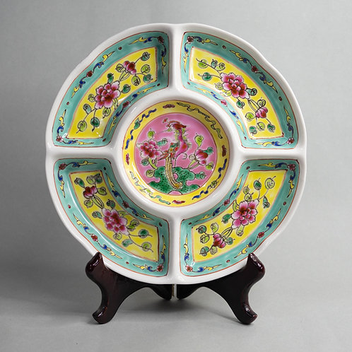 Peranakan Sectioned Plate (Medium, 4 Colours)