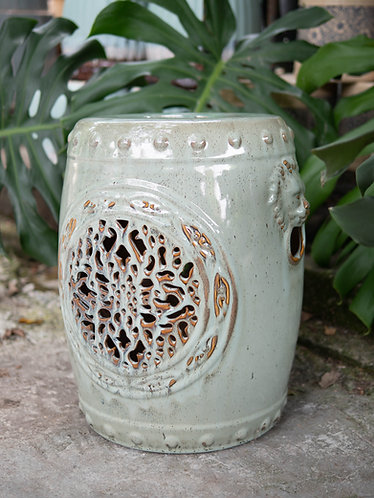 Openwork Stools with Lion Head Motif (4 Colours)