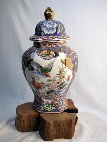 Spring Birds Jar with Lid