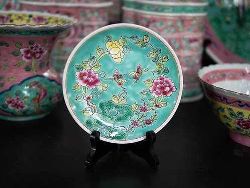 Peranakan Round Plate with Butterflies (5 Colours)