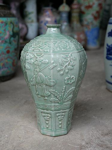 Faceted Celadon Vase
