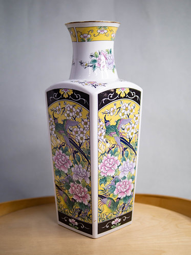 Four-sided Phoenix and Peonies Vase