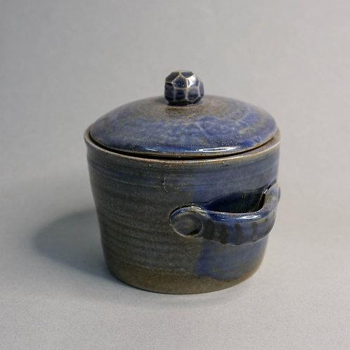 Dragon Kiln Fired Blue Jar with Lid (Design 2)