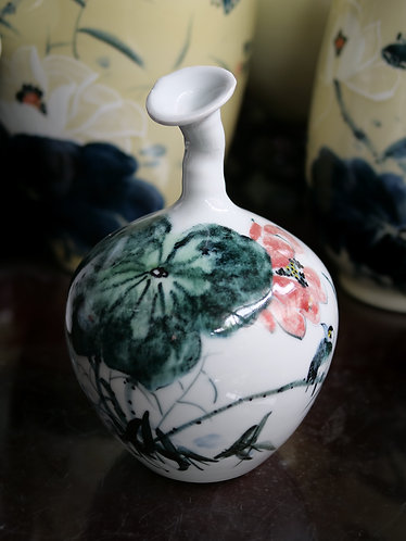 Handpainted Vase with Altered Neck (Design 2)
