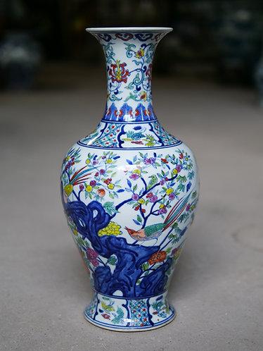 Multicoloured Bird Vase