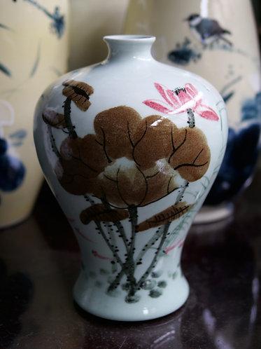 Handpainted Lotus Vase