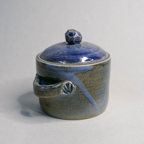 Dragon Kiln Fired Blue Jar with Lid (Design 1)