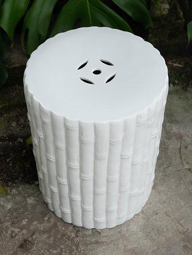 White Bamboo Stool