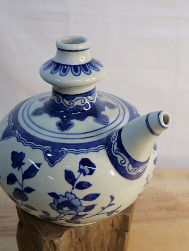 Small Blue and White Kendi