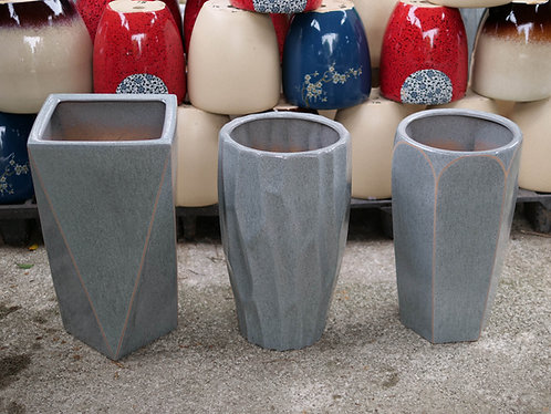 Stony Grey Outdoor Pots (3 Designs, 2 Sizes)