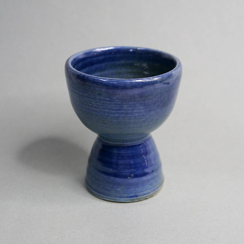 Dragon Kiln Fired Blue Goblet