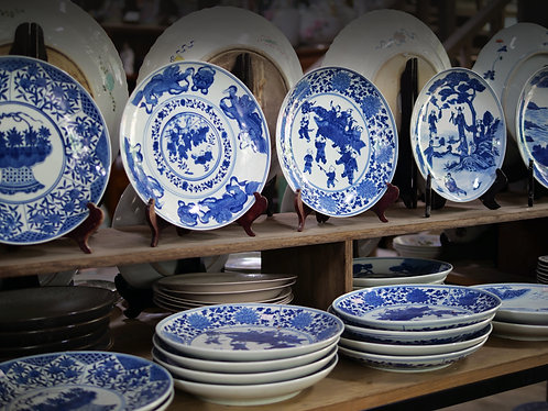 Blue and White Plates (5 Designs)