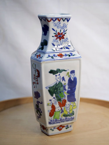 Multi-coloured Chinese Vase (Design 6)