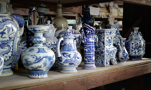 Blue and White Vases (Designs 1-8)