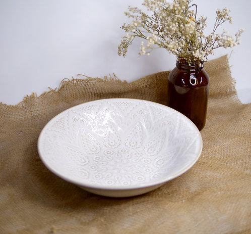White deep bowl
