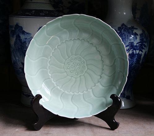 Celadon Lotus Plate