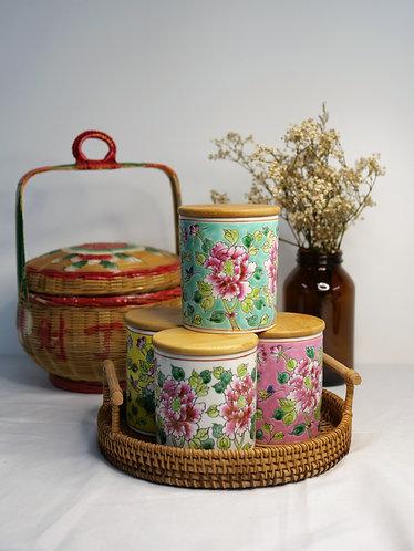 Peranakan Sugar Jar (4 colours)