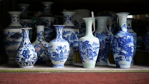 Blue and White Vases (Designs 9-12)