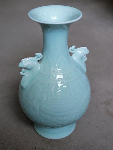 Celadon Vase with Phoenix Head Handle