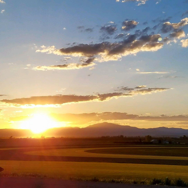 Sunset at the Wheatland sod farm