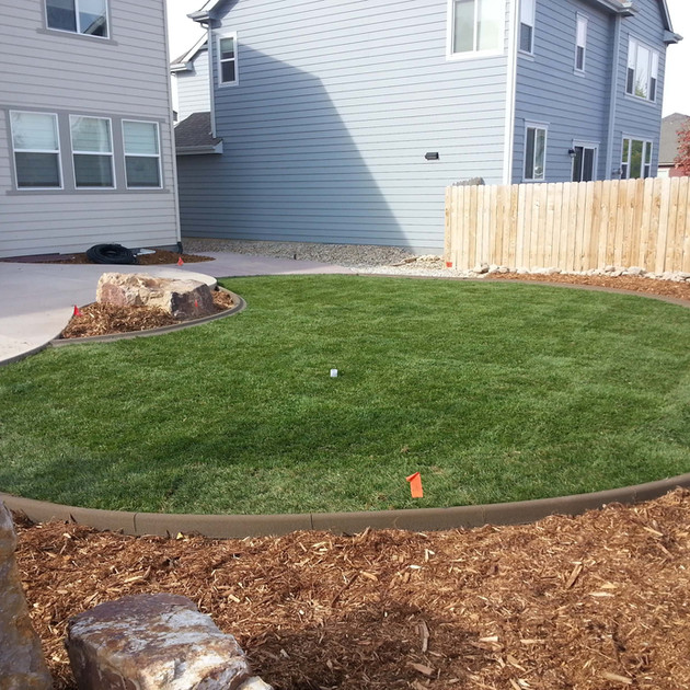 After installing Turf Master's sod