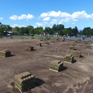 Pallets of Turf at Emerald Elementary