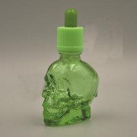 Бутылочка череп для зелий (зеленая)