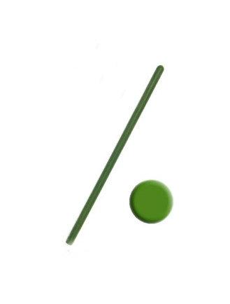 Свеча тонкая 20 см зеленая